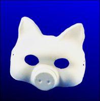 Maska papierowa - 14 - Świnia