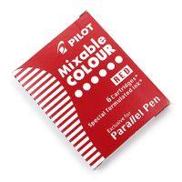 Pilot Parallel Pen naboje - 6szt - czerwone