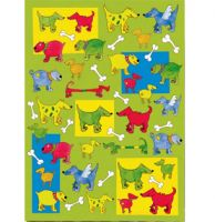 Papier decoupage A4 100g - 509 Yellow Dogs