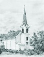 Rysowanka A4 z ołówkami - Kościół
