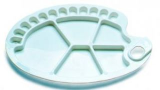 Paleta plastikowa  - 91086, owalna 30,5 x 21 cm