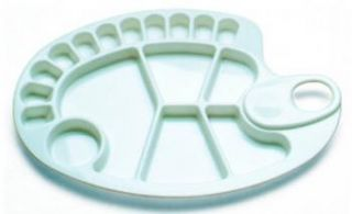 Paleta plastikowa  - 91087, owalna 34 x 24,5 cm