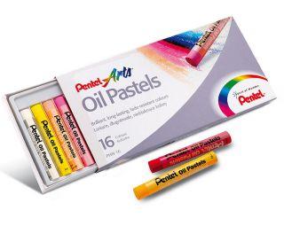 Pastele olejne Pentel - 16 kolorów