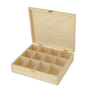 Pudełko na herbatę - 376 - 12 z dużym zapięciem