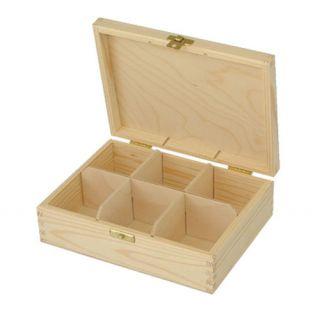 Pudełko na herbatę - 375 - 6 z dużym zapięciem