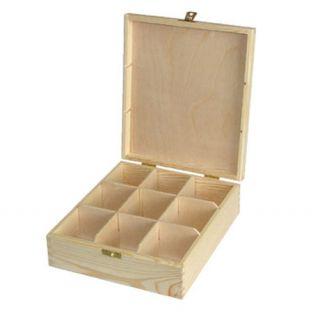 Pudełko na herbatę - 487 - 9 z dużym zapięciem