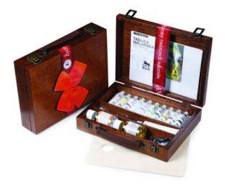 Zestaw farb Olej for Art drewniana kaseta - zestaw 1 - 10 x 20 ml + akcesoria