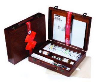 Zestaw farb Olej for Art drewniana kaseta - zestaw 2 - 9 x 60 ml + akcesoria