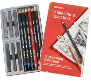 Zestaw artystyczny Sketching - 12 szt. - op. metalowe