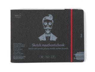 Blok Black Sketch Pad SMLT 165g  - A5 szyty z gumką - 18ark