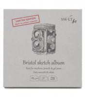 Blok SMLT Bristol Very Smooth & White 185g - 14,8 x 14,8 cm album - 32 ark