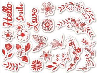 Stempelki do tkanin - Kwiaty w łuku