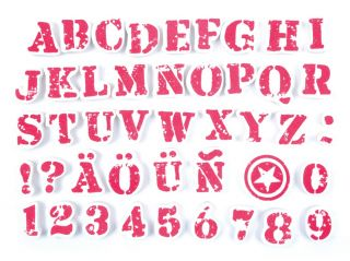 Stempelki do tkanin - Litery i cyfry