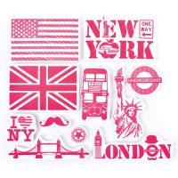 Stempelki do tkanin - Londyn i Nowy York