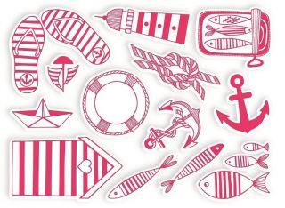 Stempelki do tkanin - Marynistyczne