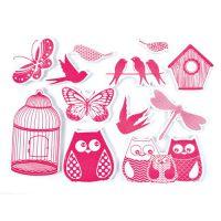 Stempelki do tkanin - Stworzenia latające