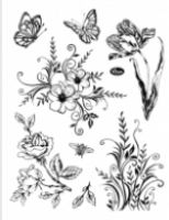 Stemple silikonowe Viva 14x18cm - 001 Kwiaty i motyle