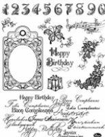 Stemple silikonowe Viva 14x18cm - 017 Happy Birthday