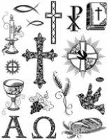 Stemple silikonowe Viva 14x18cm - 041 Symbole chrześcijańskie
