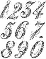 Stemple silikonowe Viva 14x18cm - 042 Cyfry