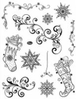 Stemple silikonowe Viva 14x18cm - 071 Skarpety świąteczne
