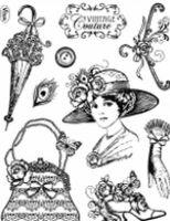 Stemple silikonowe Viva 14x18cm - 081 Vintage couture