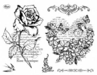 Stemple silikonowe Viva 14x18cm - 097 Róża