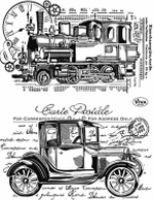 Stemple silikonowe Viva 14x18cm - 100 Stara lokomotywa