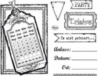 Stemple silikonowe Viva 14x18cm - 125 Kalendarz