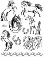 Stemple silikonowe Viva 14x18cm - 139 Konie
