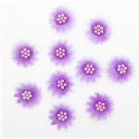 Stokrotki z perełkami 10szt - Lilac