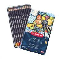 Kredki artystyczne Studio - 12 kolorów - op. metalowe