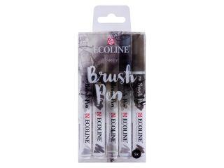 Zestaw Ecoline Brushpen 5szt - Grey