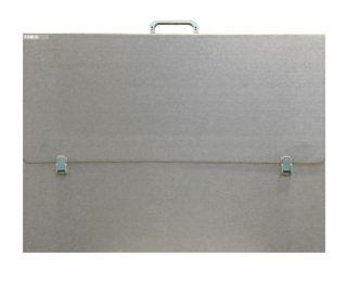 Teczka szara / srebrna - A3 (31x43,5x3cm) bez paska