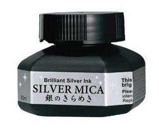 Tusz metaliczny Kuretake  - Silver Mica