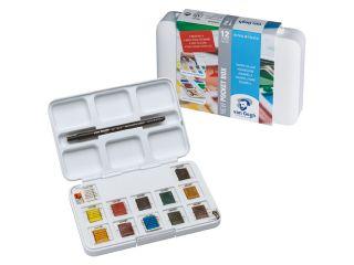 Farby akwarelowe Van Gogh - 12 kol. - Pocket Box 20HP8631