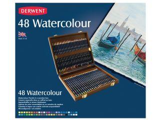 Kredki akwarelowe Watercolour - 48 kolorów - op. drewniane