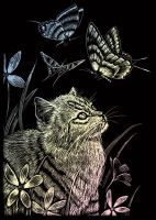 Wydrapywanka A5 - Kotek i motylki