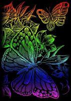 Wydrapywanka A5 - Motyle