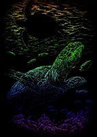 Wydrapywanka A5 - Podwodny żółw