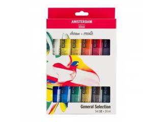 Zestaw farb akrylowych Amsterdam  - 12 kol x 20 ml