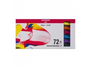 Zestaw farb akrylowych Amsterdam  - 72 kol x 20 ml