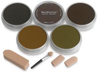 PanPastel zestaw 5 - Ciemne kolory ziemi