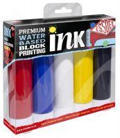 Tusz do linorytu Premium 100ml - zestaw 5 kolorów